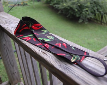 Black Chili Pepper Wrist Wraps for Weightlifting or Crossfit