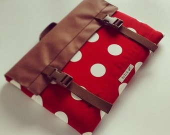 "MacBook Pro 15"" Case, MacBook Case, MacBook Laptop Sleeve, Laptop Bag, Laptop Case - Red Polka Dots"