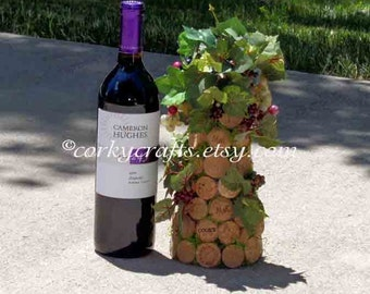 Wine Cork Tree, wine tasting, wedding table centerpiece, floral alternative, rustic wedding