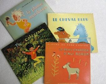 Vintage 1960s French Children's Picture  Books Albums Du Pere Castor