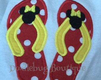 Minnie Mouse flip flop shirt