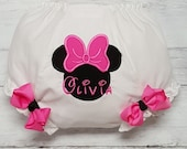 Minnie Mouse Personalized Hot Pink Diaper Cover Bloomers