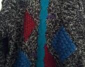 SALE Botany 500 XL grunge 80s jumper sweater XL men boho punk men geometric modern eighties