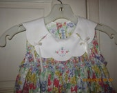 Easter Sale CHRISTIE BROOKS SMOCKED Vintage Style Floral Sun Dress 5/6
