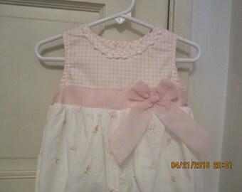 B.T. Kids Vintage Toddler Baby girls Sunsuit Romper 24M
