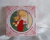 Vintage Christmas Ceramic Tile Trivets