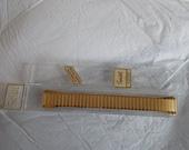 Vintage Goldtone Interlock Speidel Watch Band