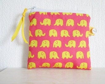 HALF PRICE SALE Elelphants Coin  Purse