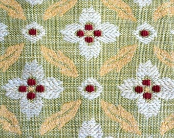 Brunschwig and Fils Fabric - Foglia Figured Woven Upholstery Green Yellow - 25 x 26 Sample Size