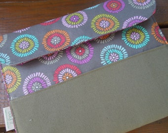 iPad cover with magnetic snap- iPad case - iPad sleeve -  Floral burst - Protection for tablets