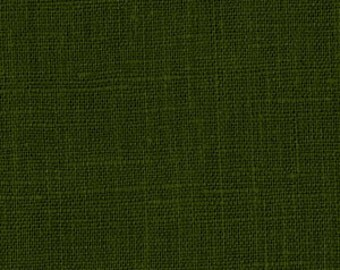 Solid color linen drapes, vineyard green, linen curtain panels, rod pocket linen curtains