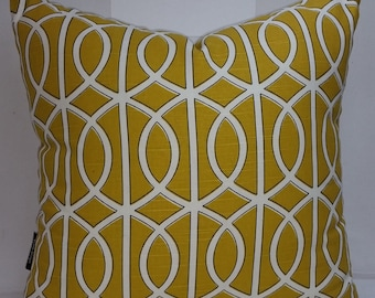 """Dwell Studio Bella Porte, citrine, decorative pillow or pillow cover, 20 x 20"""""""