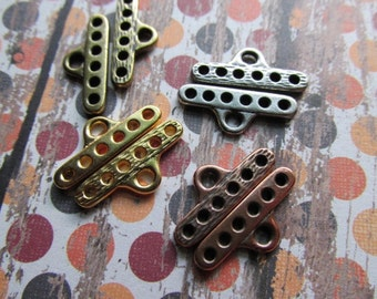 DESTASH CHOICE OF Six to One Bar, Reduction Bar, Multi strand connector, multi strand, connecter, MultiStrand, Pewter findings