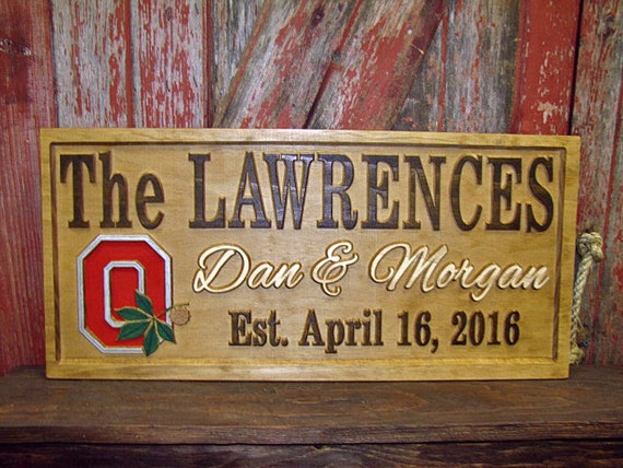 Personalized Nfl Man Cave Signs : Personalized wedding gift sign man cave custom carved wood