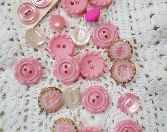 Button assortment Pinks # 8