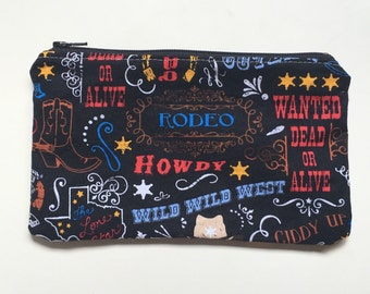 Reusable Snack Bag,  Zipper Bag,  Essential Oil Bag, Boy Snack Bag, Girl Snack Bag Rodeo
