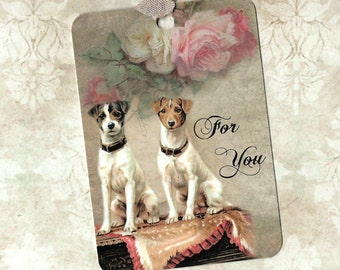 Tags, Dog Gift Tags, Terrier, Jack Russel, Dog Lover, Gift Tags