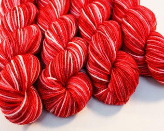 SALE!! Winterberry - Fox in Socks - Hand Dyed Superwash Merino Yarn