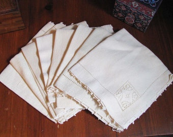 Antique napkins with embroidered decoration