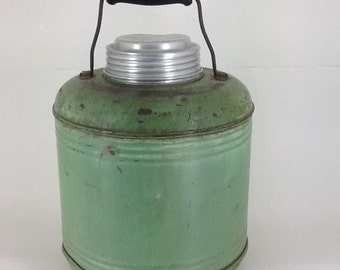 Vintage Green Thermos