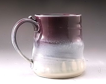 Purple Pottery Mug Handmade Porcelain by Mark Hudak