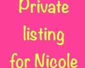 Private listing for Nicole