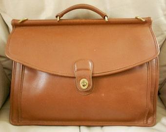 Coach Brown Leather Briefcase / Laptop Bag