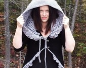 Dragon Scale Armour Armor Vest Crochet Pattern Crocodile Stitch PDF download Alligator Scales Top Circular Hood hooded Fantasy Fall Women
