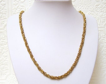 1972 Grosse Germany Vintage Gold Plated Rope Chain 32""