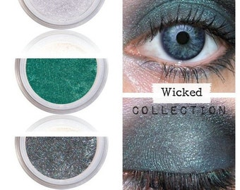 Wicked Makeup, Oz Eyeshadow Trio, Get the Look, Wizard of Oz, Witch of the West, Green Make up, Natural, For Sensitive Skin Eyes, Pure Color