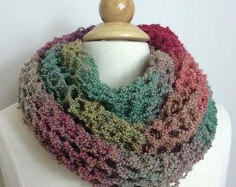 Hand Knit Scarf - LACY RAINBOW