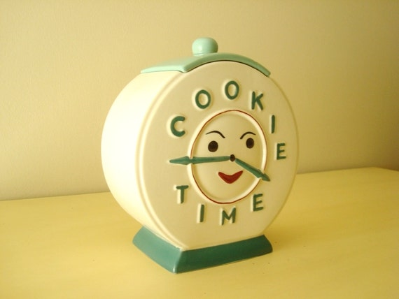 Abingdon Cookie Time Vintage Cookie Jar Clock