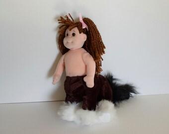 Centaur or Sagittarius, human horse altered stuffed mutant animal