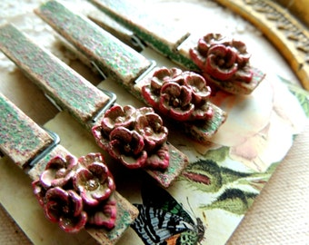 Glitter Clothespins Decorative Clothes Pin Magnet Wooden Painted Pins Cottage Chic Magnetic Pegs Office Supplies Cubicle Decor Card Holder