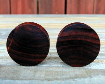 30mm Pau Ferro wood, Brazilian Ironwood ear plugs, Organic gauges