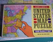 United States MAP PUZZLE by Selchow & Righter Co.