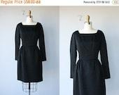 25% OFF SALE... Vintage 60s Dress | Black Cocktail Dress | Vintage 1960s Dress | 60s Cocktail Dress