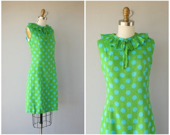 Vintage 1960s Dress | 1960s Dress | 60s Day Dress | 1960s Polka Dot Dress | 60s Shift Dress