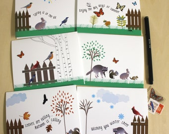 Backyard Critters Notecards - Boxed Set of 6