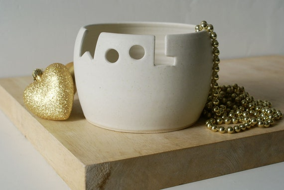 Made To Order - The 'wool' yarn bowl, hand thrown custom pottery yarn bowl