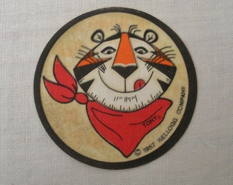 Vintage 1957 Kellogg Tony the Tiger Iron On Patch