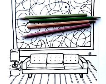 Coloring Page - Ernie's apartment - Download
