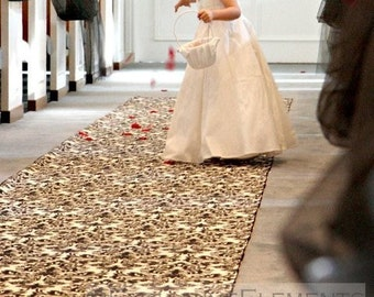Black and Ivory Floral Aisle Runner Wedding Ceremony Isle Runner Damask Runner Black Fabric Runner