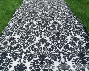 black and ivory aisle runner floral wedding isle runner ceremony