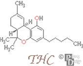 THC Molecule Cross Stitch Pattern PDF