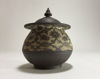 """Ceramic Coffee Jar  (6.5"""" in diameter)"""
