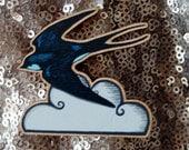 Swallow Bird  Lasercut Wooden Brooch
