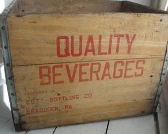 Quality Beverage Wood Crate Vintage Red