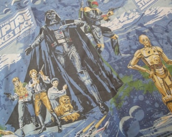 Vintage Star Wars Empire Strikes Back Twin Sheet Set Flat Fitted