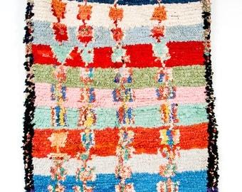 Aguas Rosadas - vintage boucherouite berber rug